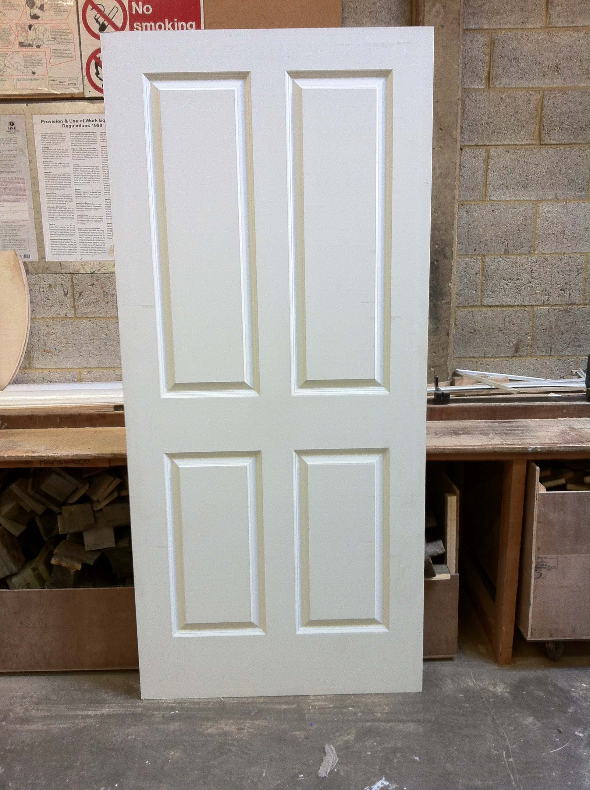926mm x 2040mm x 44mm Premdor FD30 fire resistant panelled door £35.00 each including VAT Collection only