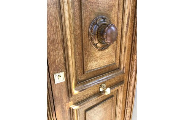 Grosvenor Square panelled Doors with Hand Carved Decorative Handles