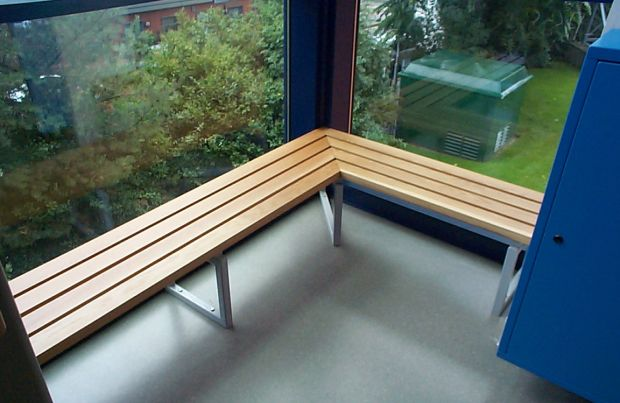 Slatted Bench seating