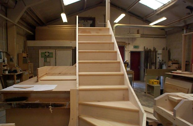 Softwood Staircase with Kites & Winders