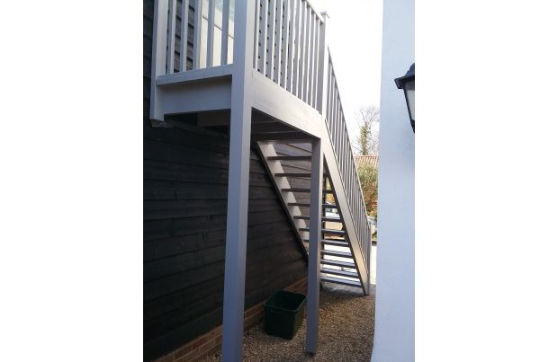 Oroko Staircase finished in Grey Barn Paint